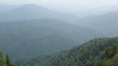 Panorama of altai mountains from peak mount tserkovka in belokurikha. russia. Stock Footage