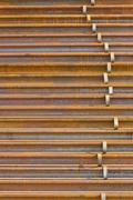 stack of railway - stock photo