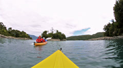 Point of view kayaking along the Bahia Tictoc Stock Footage