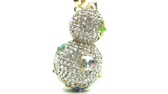 Gold pendant with diamond jewelery crystals Stock Footage