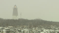 Snow lighthouse Stock Footage