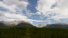 Clouds timelapse in Kananaskis canada - stock footage