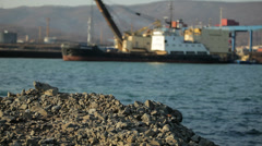 Far East of Russia , Vladivostok port - stock footage
