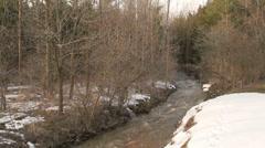 Melting Snow, Rushing Creek Footage Stock Footage