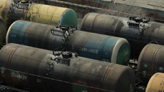 Oil transportation by rail - stock footage