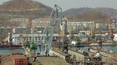 Far East, port of Nakhodka Stock Footage