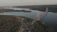 Stock Video Footage of High Coast Bridge, Sweden