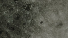 Close-up and zoom of full moon in the night Stock Footage