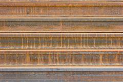 rusty  metal railway background - stock photo