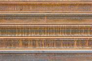 Rusty  metal railway background Stock Photos