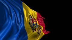 Flag of Moldova Stock Footage