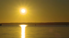 Sunrise skiff Stock Footage