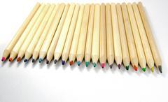 Coloured artists pencils Stock Photos
