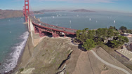 Stock Video Footage of Golden Gate Aerials