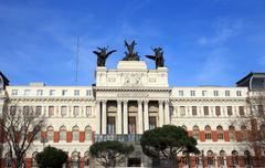 Ministry of agriculture palace in madrid, spain Stock Photos