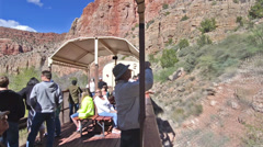 Verde Canyon Railroad ride from Clarkdale along the Verde River in Prescott Stock Footage