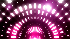 Butterfly winged stage lights 9 Stock Footage