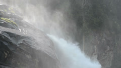 Krimml Waterfalls falling into valley. (Austria) Stock Footage