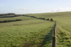Countryside at falmer. sussex. england Stock Photos