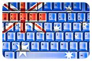 Stock Illustration of computer keyboard with australia flag concept