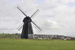 windmill at rottingdean. sussex. england - stock photo