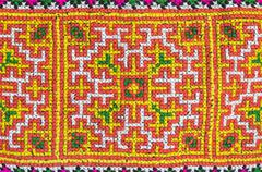 Seamless colorful fabric patern Stock Photos
