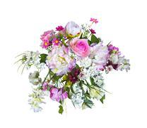 Beautiful bouquet artificial flowers Stock Photos