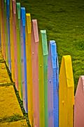 Stock Photo of colorful wooden compound