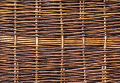 Wooden woven wicker texture Stock Photos