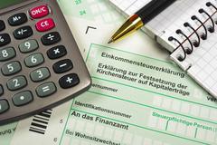 german tax - stock photo