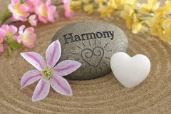 Harmony in zen garden Stock Photos