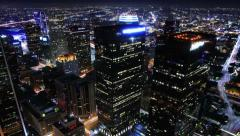 4K Cityscape Neon 03 Los Angeles Timelapse Light Trails Stock Footage