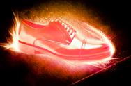 Stock Illustration of shoes on fire