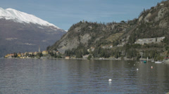 Stunning village and mountains on Lake Como, Italy - stock footage