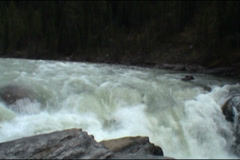 Athabasca Falls, Canada Stock Footage