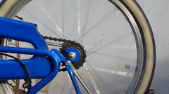 Bicycle detail , back wheel Stock Footage