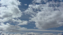White clouds cumulus in blue sky Stock Footage