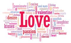 Love word cloud illustration Stock Illustration