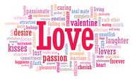 Stock Illustration of love word cloud illustration