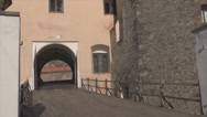 Stock Video Footage of bridge of Mukachevo castle