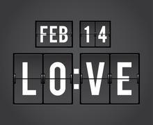 valentine's day countdown timer - stock illustration