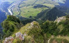 Breathtaking view from three crown mountain, pieniny Stock Photos