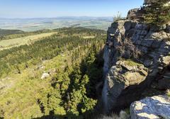 spectacular view from top of strzeliniec wielki peak, poland - stock photo