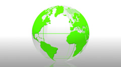 World globe News bio animation background - 1080p Stock Footage