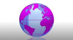 Earth globe animation background transition - 1080p Stock Footage