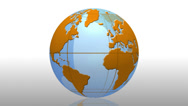 Stock Video Footage of News World globe orange transition