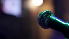 Microphone 1 - stock footage