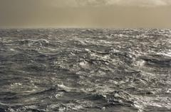 Stormy seas of drake passage, the water channel between antarctica and the ti Stock Photos
