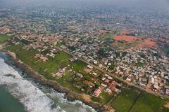 coastal development on outskirts of accra, ghana - stock photo
