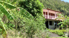 Guadeloupe Basse Terre district 037 house at the border of rain forest Stock Footage